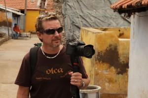 Evan Grae Davis filming in India.