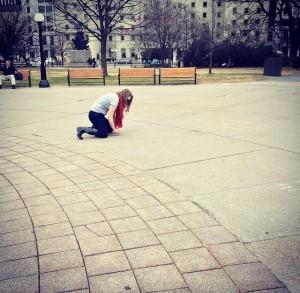 Julie S. Lalonde - Chalk Walking with Hollaback! Ottawa