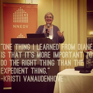 KV accepts award w words on pic